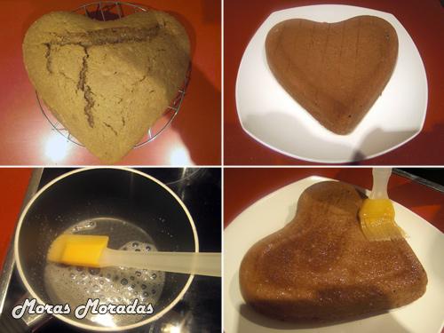 hacer pastel con forma de corazón