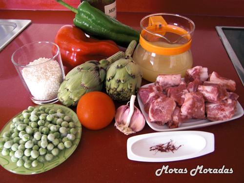 ingredientes para hacer arroz con costilla de cerdo