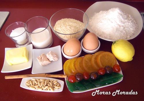 ingredientes para hacer una coca de San Juan