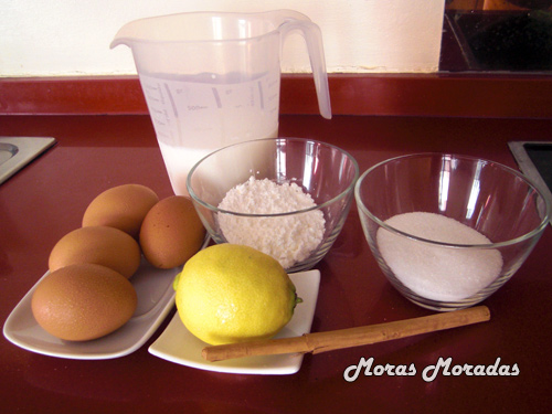 ingredientes para hacer crema pastelera
